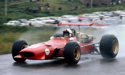 Ferrari Friday … spray itChris Amon, Ferrari 312/68, 1968 Dutch Grand Prix, Zandvoort