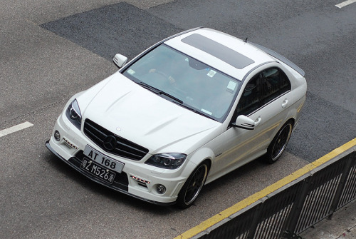 Mercedes C63 AMG spotted in the streets of Hong Kong, China [photo credit: rupert procter]