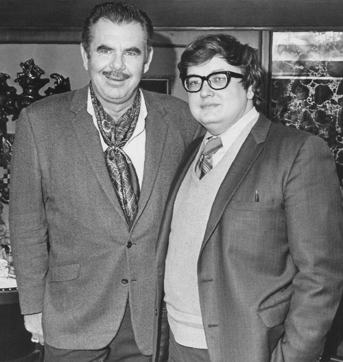 suicidewatch:  R.I.P. Roger Ebert (with Russ Meyer, 1970).