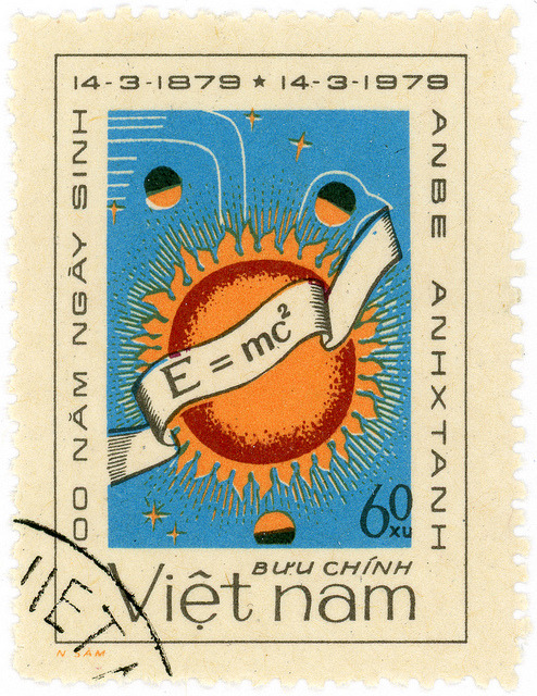 Vietnam postage stamp: Einstein by karen horton on Flickr.