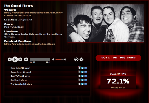 Vote to help us play this years Vans Warped Tour!
