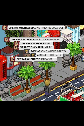 crash-bandic00t:  Went on Habbo with Beef omfg got lost in the waLL IDEK