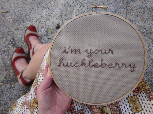 Three Small Words  cross stitch by Chez Sucre Chez :: via chezsucrechez