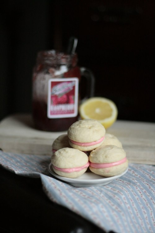 Raspberry Lemon Cream Cheese Whoopie Pies by Indigo Scones