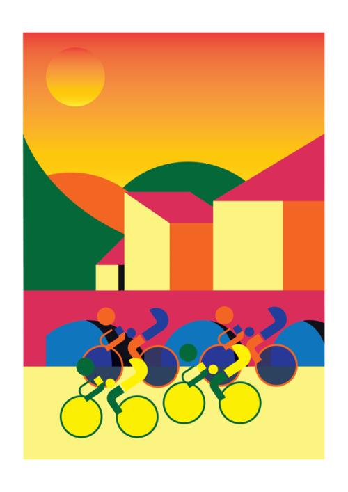 Cycling illustration by Nick Hill