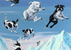 2headedsnake:  Christopher Winter Dog Fight, 2012 acrylic on canvas