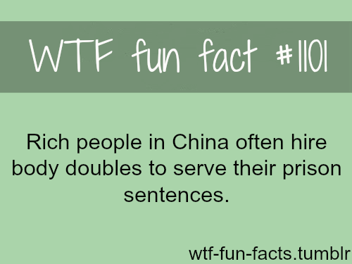 wtf-fun-factss:  (source) — Rich people in china and body doubles  MORE OF WTF-FUN-FACTS are coming HERE funny and weird facts ONLY