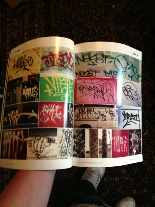 droppedcharges:  Handstyle page from The Infamous graff mag