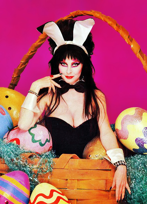 vintagegal:  Elvira  It's a little late, but happy Easter!