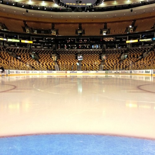 This will be the view from the Boston crease to start tonight's game vs Ottawa… #nhlbruins