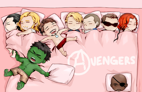 wonderdj:  Sleeping Avengers