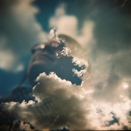"""Dream"" A double exposure of my sister. Taken with an Holga."