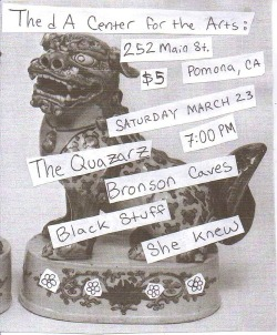 This show is tonight at the dA in P-town. My good friend Manny of the Depression Chamber is hosting this.  So… lets hang out? EVENT PAGE/MAP & DIRECTIONS                                                     -J.M.M.