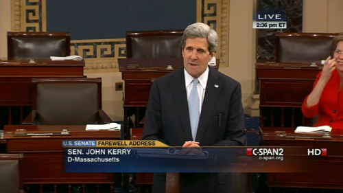 "John Kerry bids the Senate farewell after nearly 30 years in office. Who will take Kerry's place?   Massachusetts Gov. Deval L. Patrick (D) selected William ""Mo"" Cowan, his former chief of staff, to temporarily fill Sen. John F. Kerry's seat, bringing the number of African Americans in the Senate to two, a historic high. [+]"