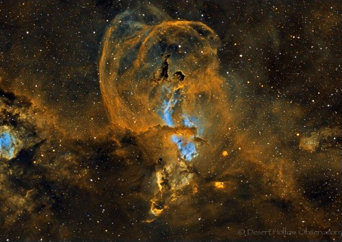 NGC3584 (narrowband) in Carina. — Desert Hollow Observatory