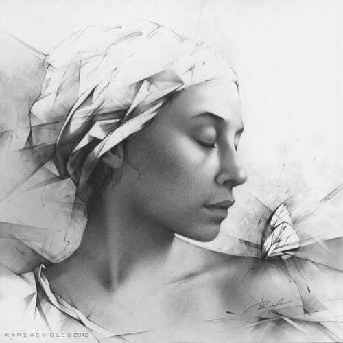 Alexandra by Kardaev Oleg~ pencil on paper