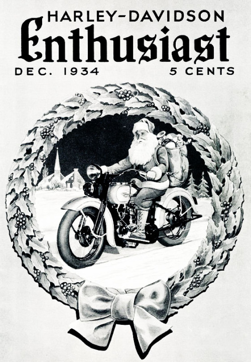 Harley-Davidson Enthusiast Magazine, December, 1934