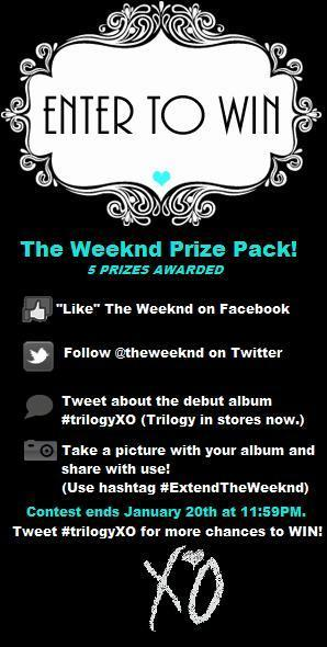 Do you like @theweeknd?  I know I do.  Enter above to win some free swag.