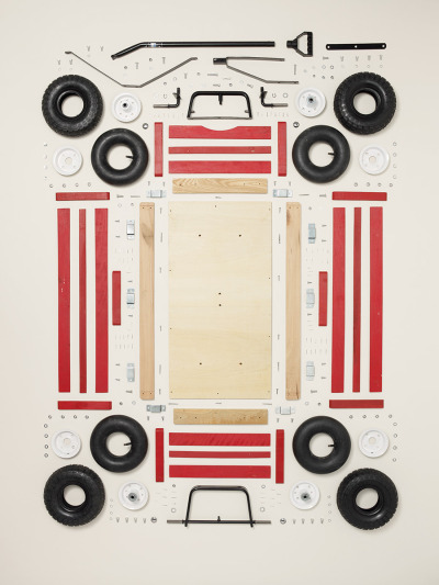 Todd McLellan Children's Wagon, 2011; Schwinn; Component count: 296 from his book,Things Come Apart, from Thames & Hudson