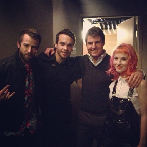 paramore:  Paramore with Tom Cruise at Jimmy Kimmel Live!