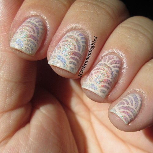 "truthteller:  I was so excited. ""Rainbow rainbows!"" I thought. ""My nails have been incepted!"" Little did I know, they were holographic wifi symbols all along. Still love em. #fckyeahnailart #nailartoohlala #thenailartstory #nails2inspire"