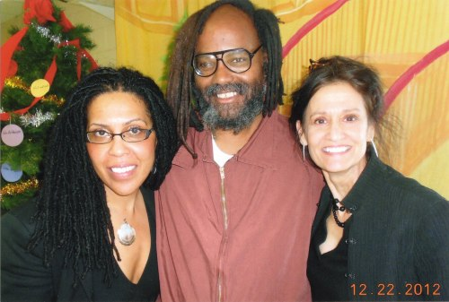 """All I want for Christmas is freedom!"" - Mumia Abu-Jamal With Johanna Fernandez and Heidi Boghosian at SCI Mahanoy, Pennsylvania, December 22, 2012"