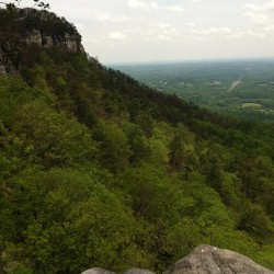 The beautiful Pilot Mountain in North Carolina #mountain #nofilter