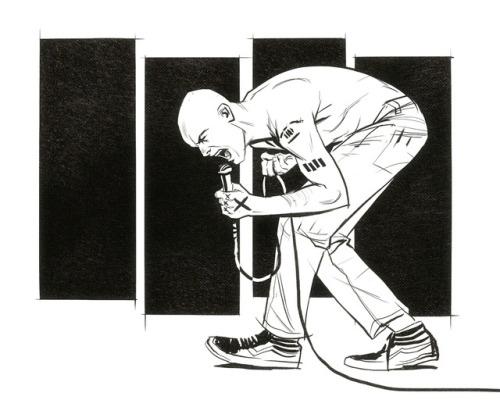 henry rollins black flag punk rock punk music Illustration drawing art artists on tumblr nathan anderson deimos-remus nathan j. anderson