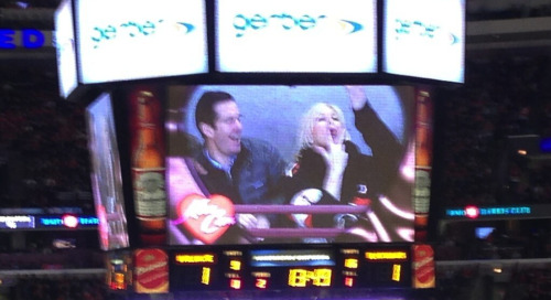 Chicago's Kiss Cam Is Almost As Hot As The Blackhawks | Deadspin Classy, but she still can't beat the Cubs blowjob mime.