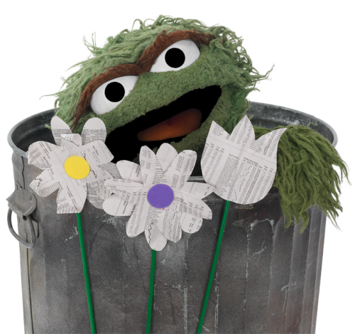 sesamestreet:  April showers bring trash flowers.