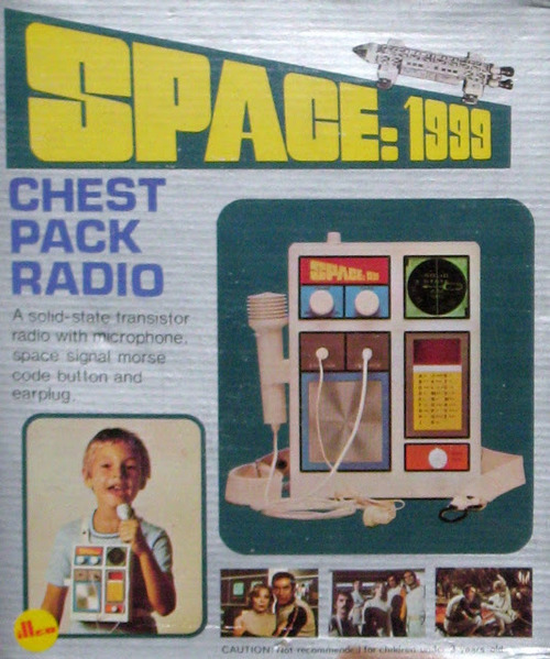 thedailypop:  Space: 1999 chest pack communicator - primitive karaoke