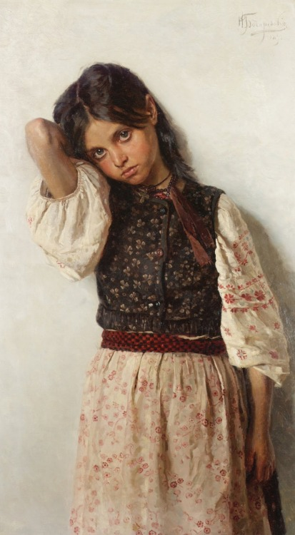 baronvonmerkens:  Nikolai Kornilievich Bodarevsky - Girl from Little Russia, 1892