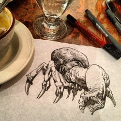 Indian food placemat creature sketch activate GO!