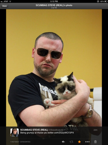 SXSW me and grumpy cat holding shit down.