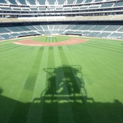 Minnie and Paul casting their shadows over Target Field this morning!