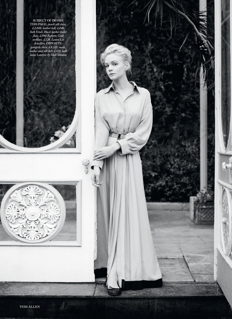 """There's Something About Carey"". Carey Mulligan by Tom Allen. Harper's Bazaar UK, June 2013."