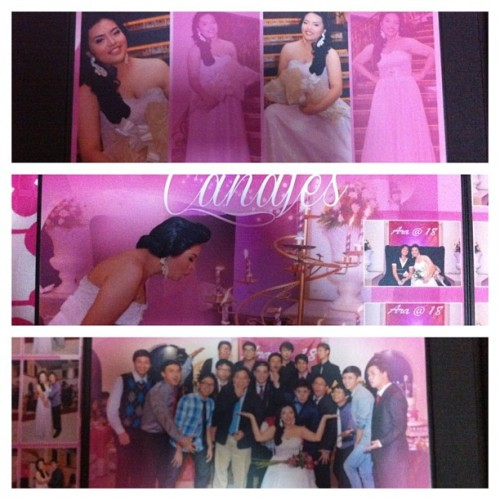 Sneak peek of the photo album. ;) #debut #eighteen