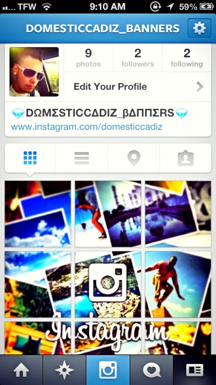 "My second instagram page just started :) follow please :) ""domesticcadiz_banners"" at Gandaoli House xD – View on Path."