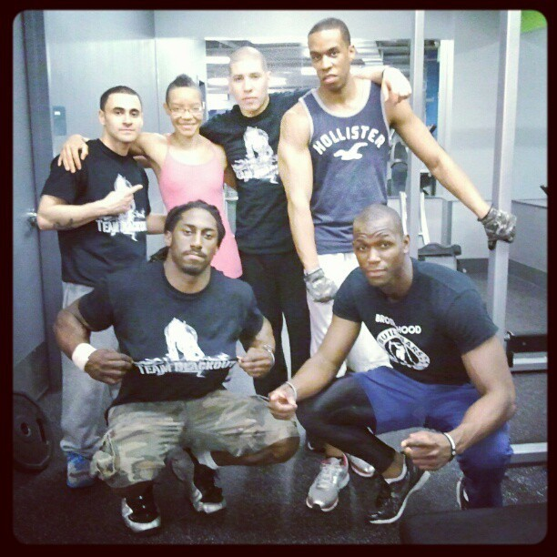 My new gym brothas….ALL THAT +Commando …ya'll can't handle that! :)