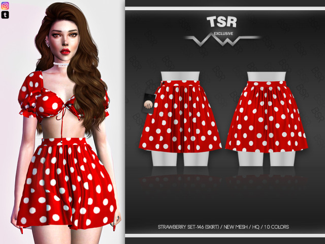 🖤Strawberry SET-146 (SKIRT) BD514🖤10 ColorsAdult-Elder-Teen-Young AdultFor FemaleCompatible with HQ mod--New Mesh-All Lods- Custom thumbnail**-Please do not re upload or claim as yours feel free to re color but do not include the mesh .DOWNLOAD TSRI hope you like them. ♥💖 You can check out my Patreon for special cc and other early access content. 💖 #the sims 4 #the sims#sims#sims 4#ts4#s4 #the sims 4 custom content  #the sims 4 custom content finds  #the sims 4 custom content free  #the sims 4 custom content download #ts4 cc #ts4 cc finds  #ts4 cc free  #ts4 cc download  #the sims 4 strawberry set  #the sims 4 skirt  #the sims 4 new mesh  #the sims 4 hq  #the sims resource #simsdom#patreon#busra-tr #the sims 4 alpha cc  #alpha cc finds  #alpha cc free  #alpha cc download #alpha cc #the sims 4 reblog #simblr#simstagram