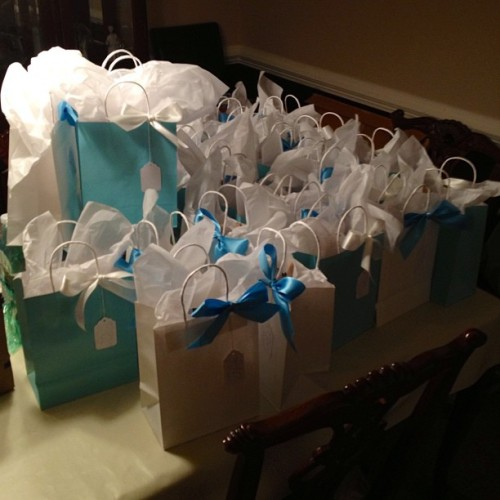 All done. Finally. I have created an absolute sea of #wedding gift bags!