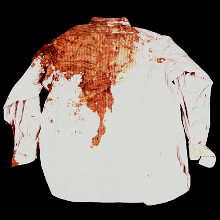 The shirt President Kennedy wore when he was assassinated on November 22nd.