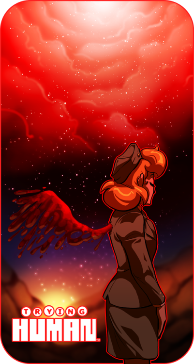 tryinghuman:  Phillis? RED?! Surprised…  Art for my webcomic.