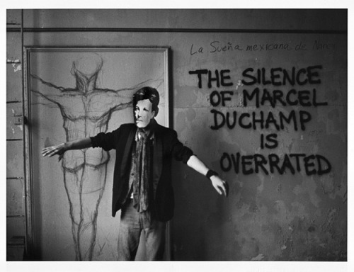 joereorda:  David Wojnarowicz Arthur Rimbaud in New York (Duchamp), 1978-79 Silver print h: 11 x w: 14 in / h: 27.9 x w: 35.6 cm