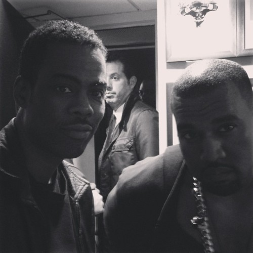 news-kardashian:  Kris: Out with the boys last night..! #yeezy #chrisrock