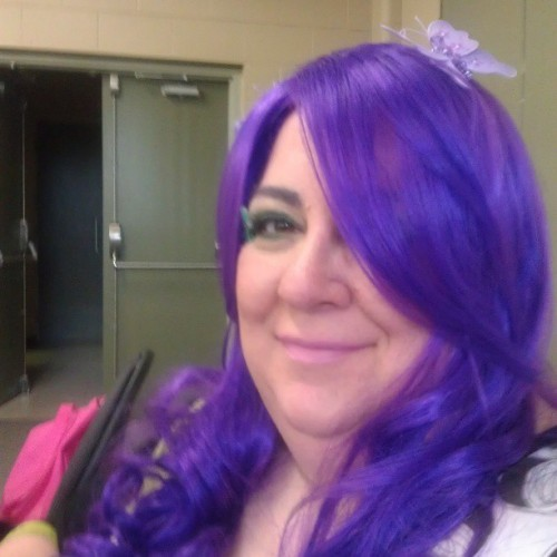 Wishing my hair was this long. #purplehair #wig #fun #wish #longhair #hair