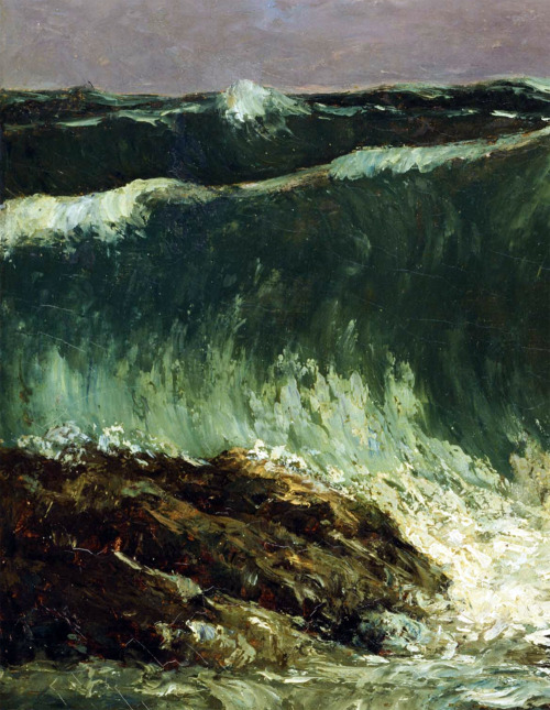 Gustave Courbet - Waves (detail), c. 1870.