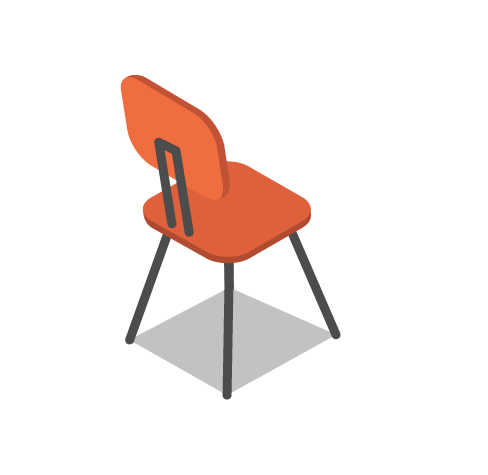 tiny isometric chair