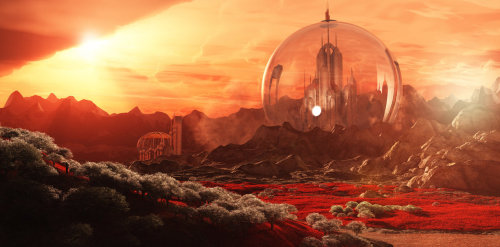 gallifreyacademy:  andromedafound:  Gallifrey from Mount Perdition by *Lupus-deus-est  I suggest you all check out the full version of this because it will blow you away.