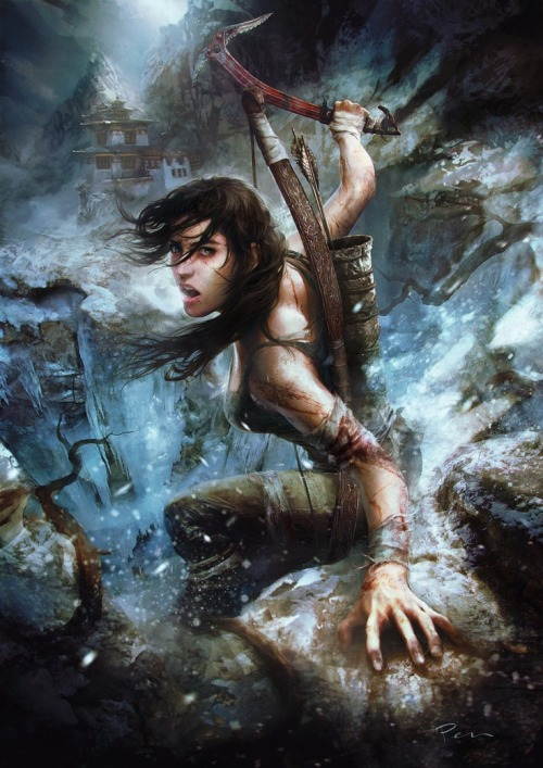 I love me some Lara Croft. Mmm… Beautiful artwork right here. Good enough to hand up in my home.